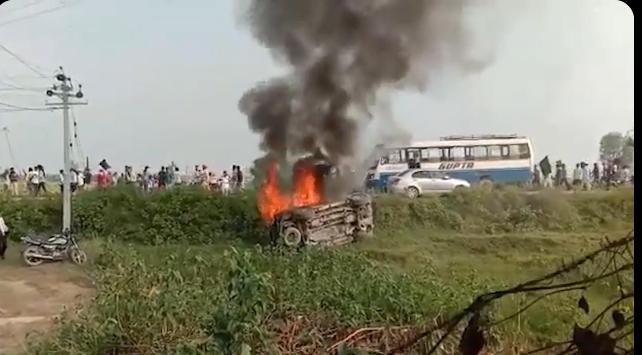 Lakhimpur Violence: केंद्रीय मंत्री के बेटे की कार से कुचले 4 किसान, जवाबी हिंसा में 4 अन्य की भी मौत