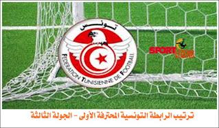 ترتيب الرابطة التونسية المحترفة الأولى - الجولة الثالثة