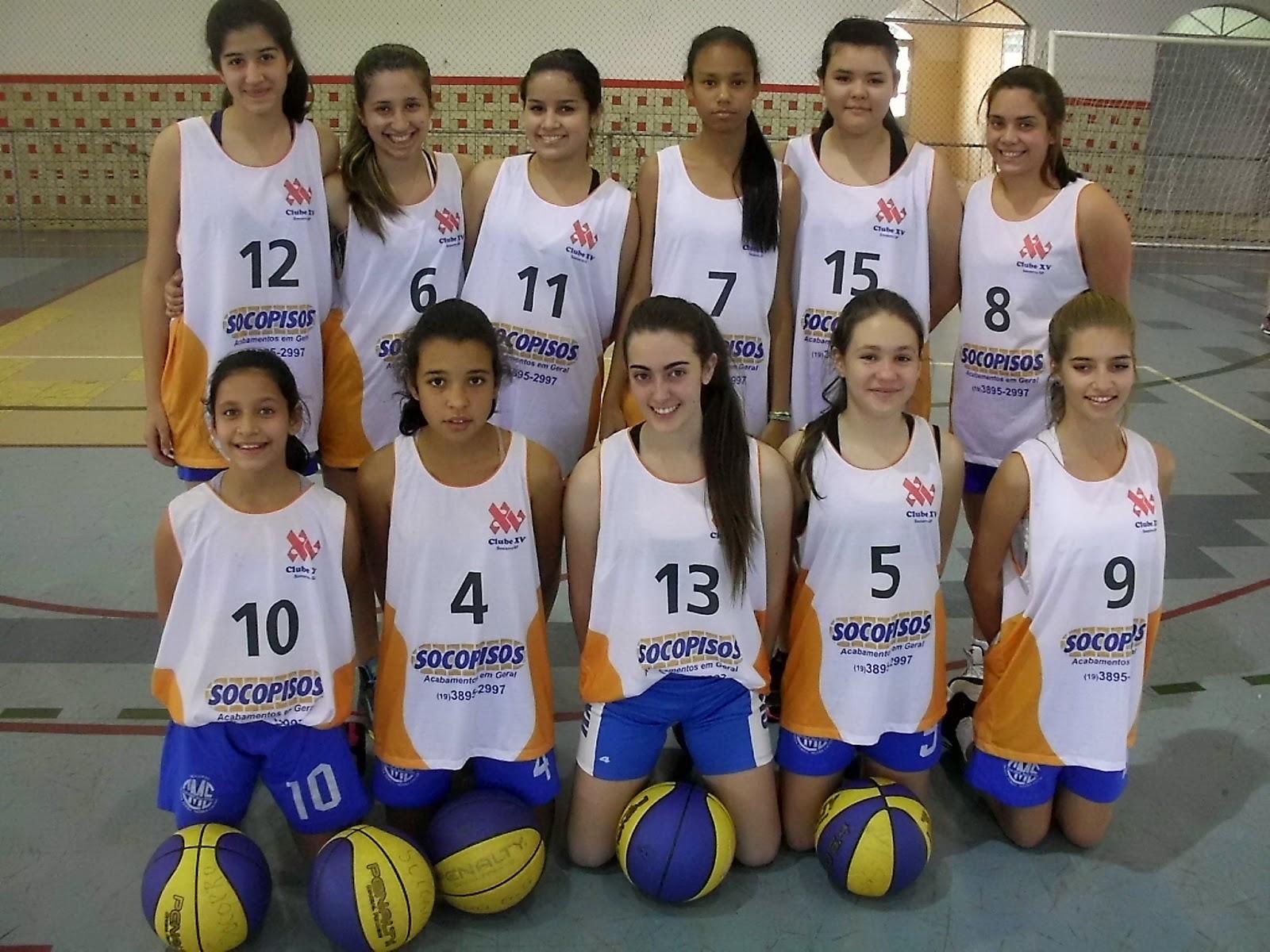 A equipe Sub-15 feminina do Clube XV Prefeitura de Socorro sofreu duas  derrotas nos jogos playoffs do Campeonato Regional de Basquete 6a09e7f4f82ce