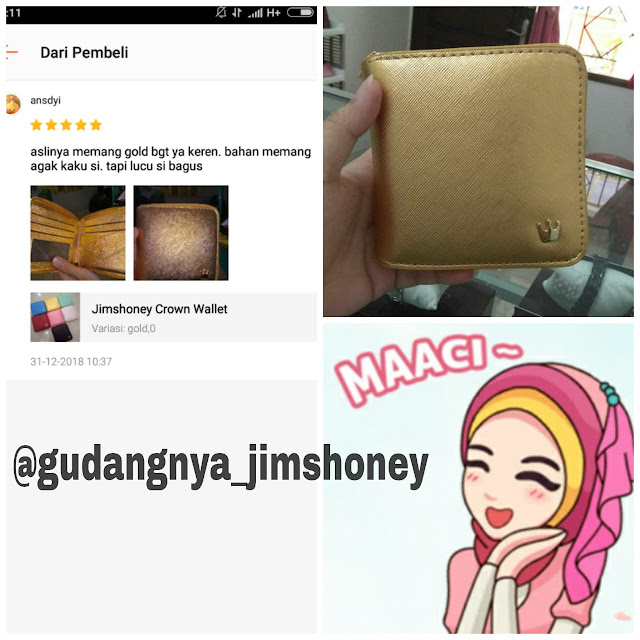 Testimoni Dompet Jimshoney Crown Wallet