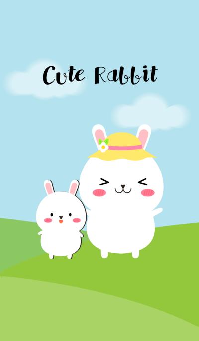 I'm Cute White Rabbit theme