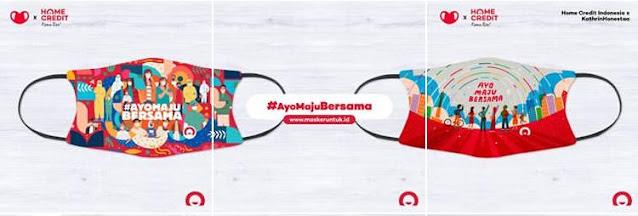 Kolaborasi Masker Home Credit Indonesia dengan Makser untuk Indoensia