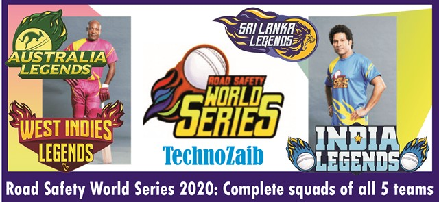 Road Safety World Series 2020: Complete squads of all 5 teams