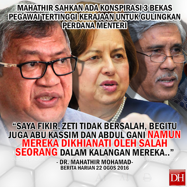 Mahathir Terlepas Cakap Konspirasi 3 Individu Mahu Gulingkan Perdana Menteri?