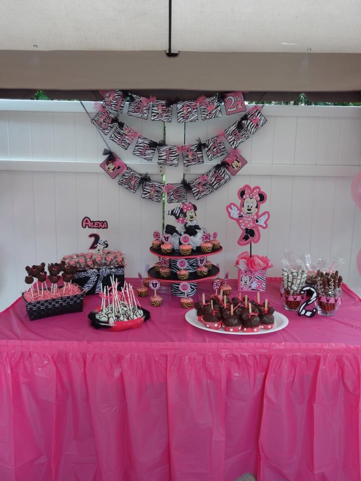 Super Mommy No Cape Required Minnie Mouse Zebra Birthday Party