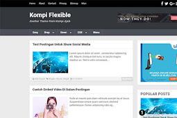 Template Blogger SEO Terbaik Kompi Flexible Terbaru
