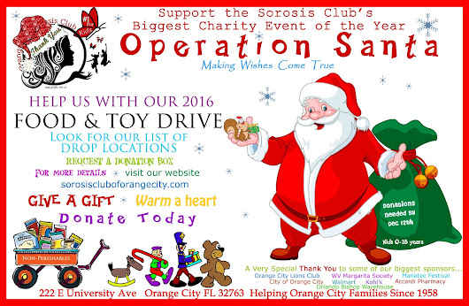 Food and Toy Drive from now until Dec 12th