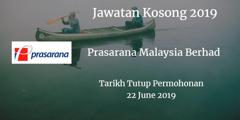 Jawatan Kosong Prasarana Malaysia Berhad 22 June 2019