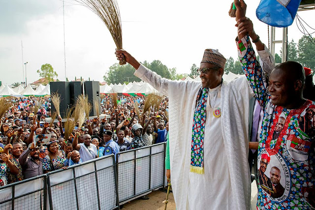 President Buhari Attends The Grand Finale Of The APC Anambra Gubernatorial Campaign