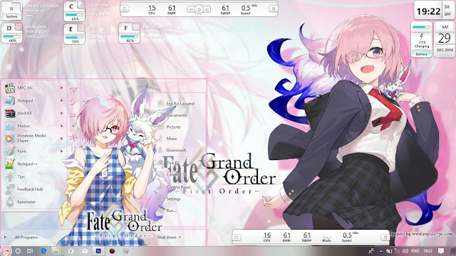 Fate/Grand Order: First Order Theme Win 10 Ver. 1703 by Enji Riz Lazuardi