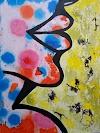 Abstract Art lip Service to Shop |  Artmiabo