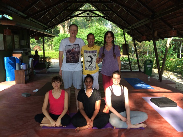 Yoga retreat group photo