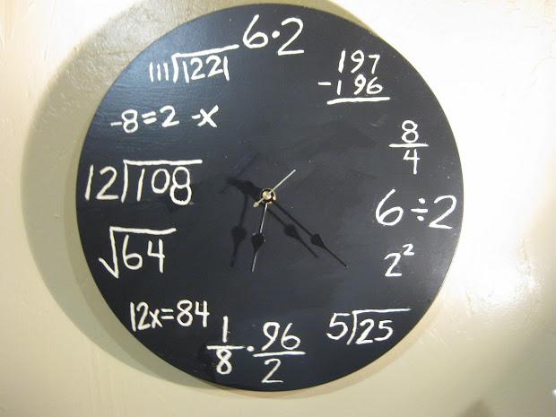 Maths Clock Chalkboard