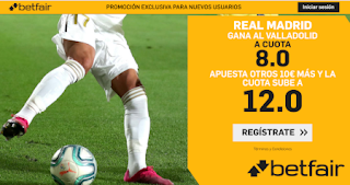 betfair supercuota plus Real Madrid gana Valladolid 26 enero 2020
