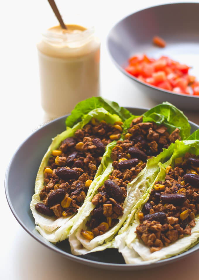 Vegan Lettuce Tacos   danceofstoves.com
