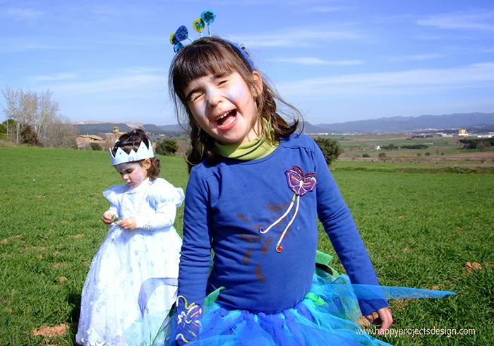 carnaval: disfraz de pavo real y de princesa