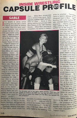 "Inside Wrestling  - November 1998 - The profile on Sable claimed she and Mero were ""close friends"""