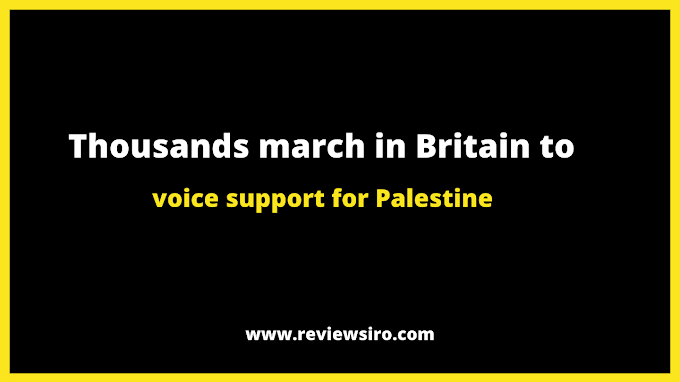 Thousands of people march in the United Kingdom to show their solidarity for Palestine