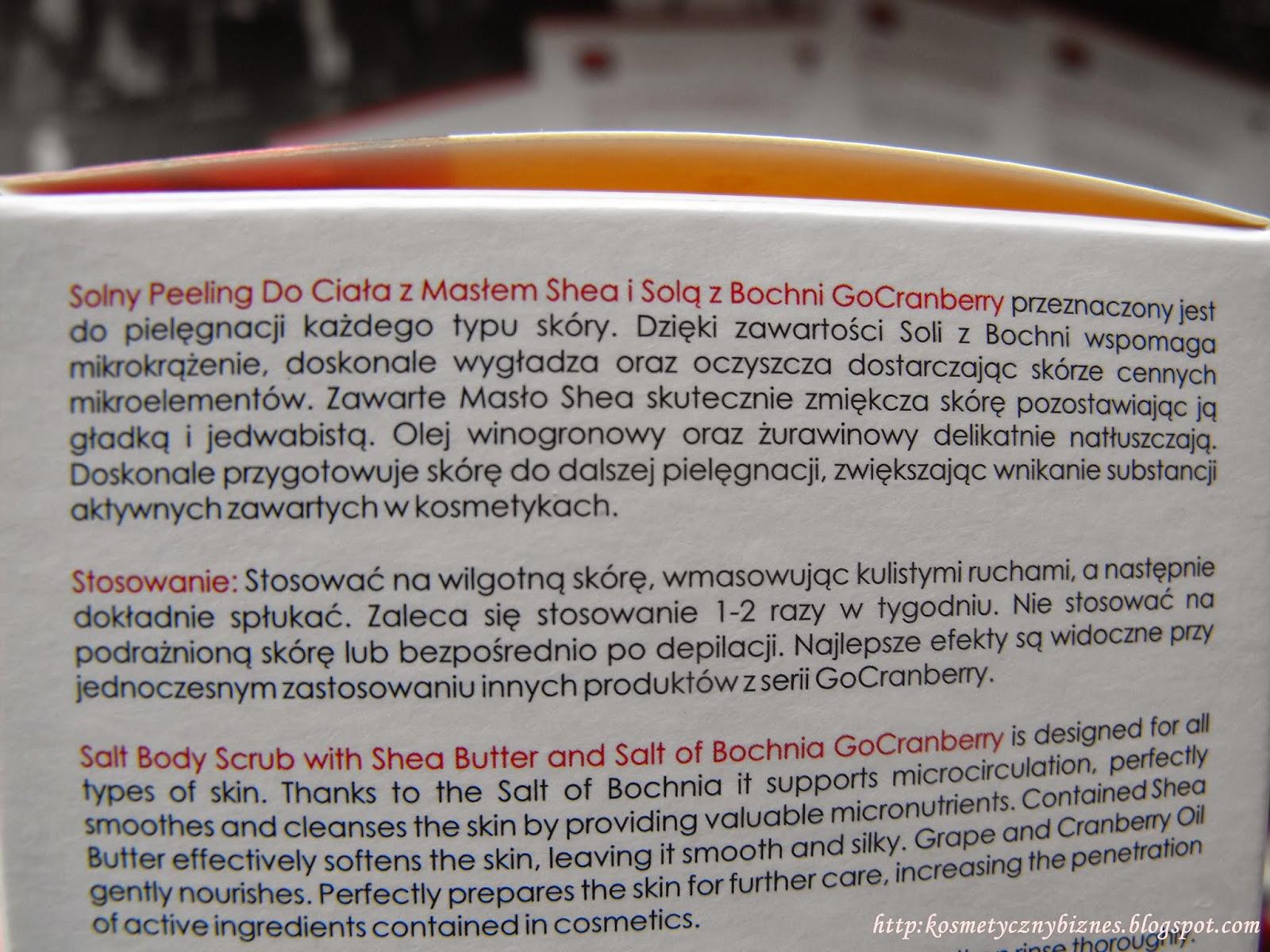 Solny Peeling Do Ciała z Masłem Shea i Solą z Bochni GoCranberry