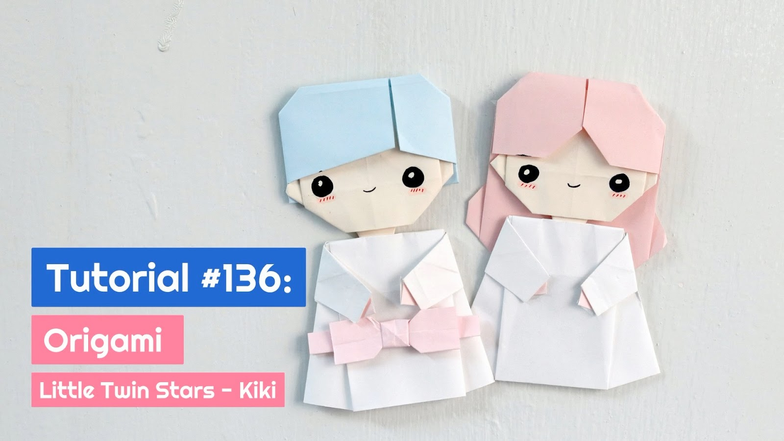 Tutorial 136 Origami Little Twin Stars Kiki The Idea King