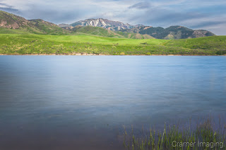 Cramer Imaging's fine art landscape photograph of smooth spring water at Devil's Creek Reservoir, Idaho