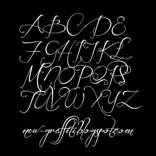 Cursive Graffiti Writing Alphabet Style Before The Rain Font By Mans Greback In 2011 Uppercase AZ Above