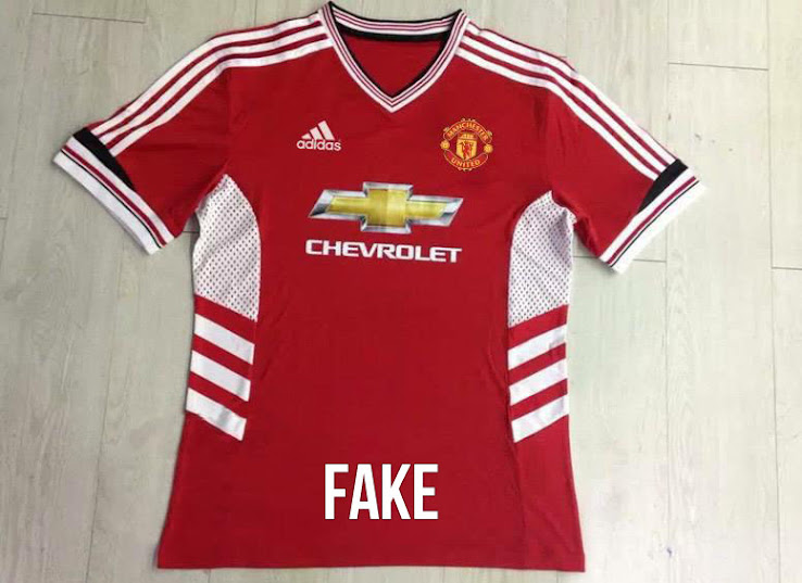 huge discount c8e56 0cf5b Fake! Adidas Manchester United 15-16 Home Kit Leaked - Footy ...