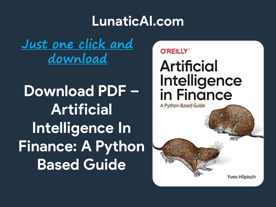 Artificial Intelligence in Finance: A Python-Based Guide PDF Github