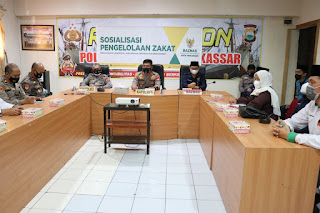 Polres Pelabuhan Makassar menerima Sosialisasi dari Baznas