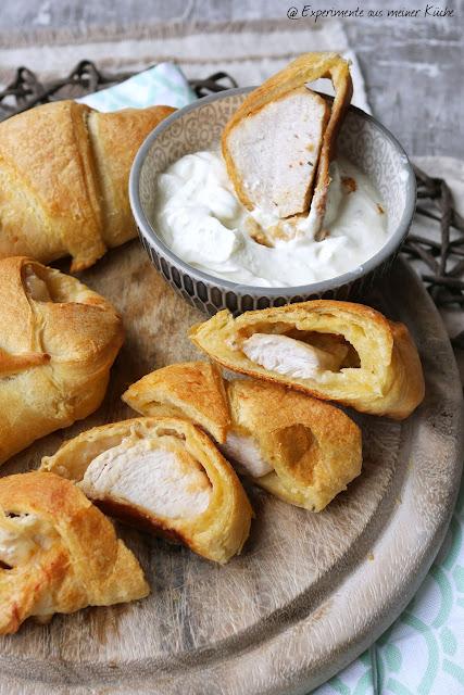 Hähnchen-Croissants mit Jalapeño-Dip | Rezepte | Fingerfood