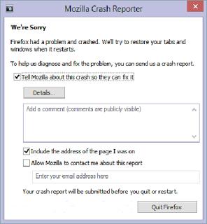 Mengatasi Mozilla Crash Reporter