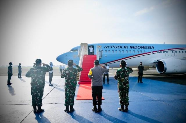 Ke Jatim, Presiden Jokowi Tinjau Vaksinasi Massal dan Resmikan SPAM Umbulan