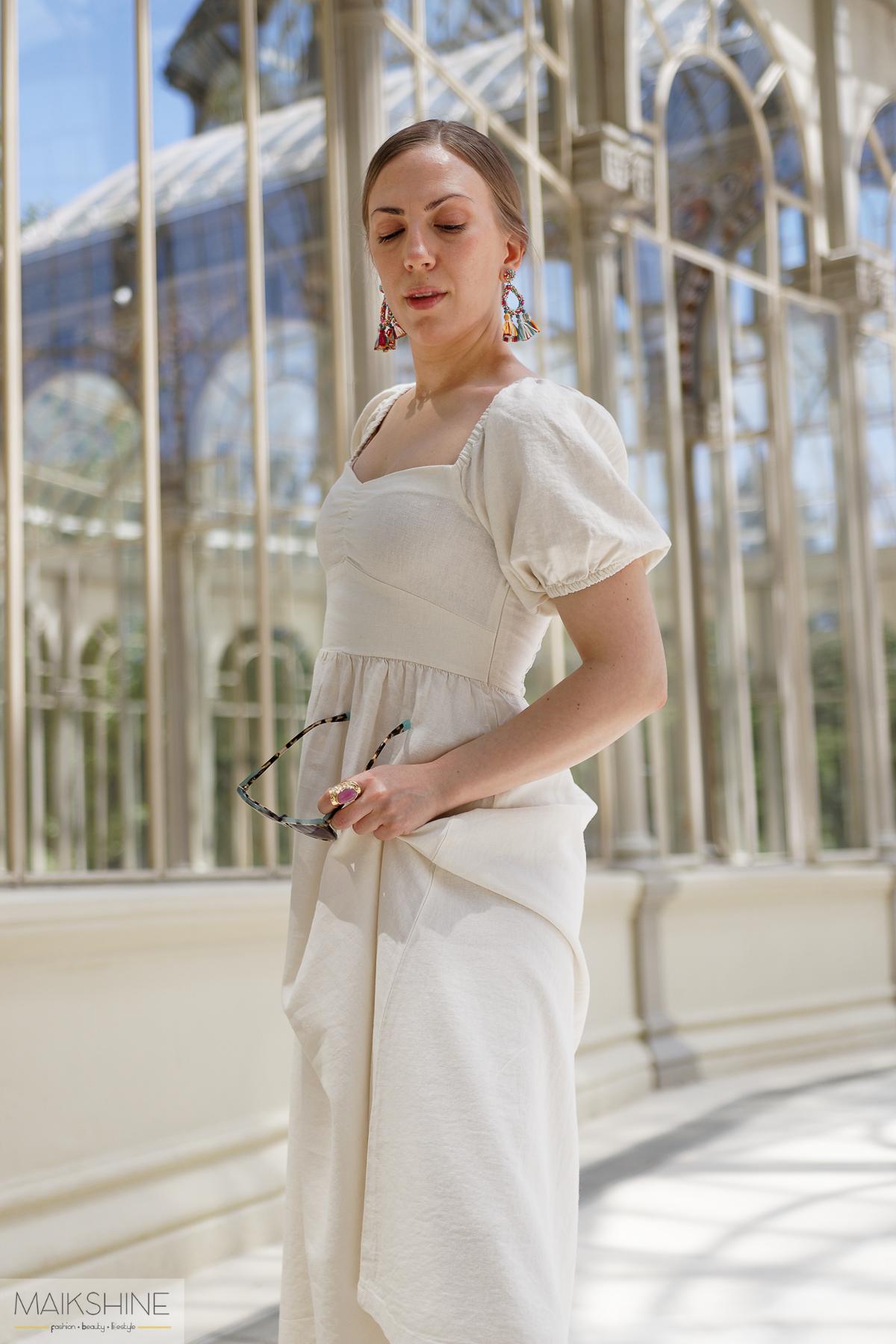 outfit vestido blanco