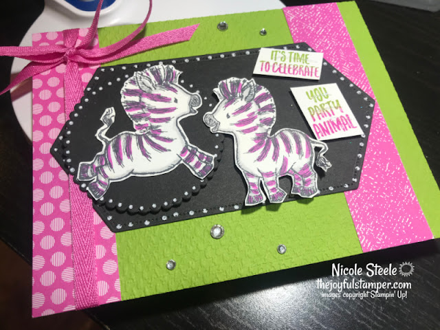 zany zebras, stampin' up!, celebrations, birthdays, handmade cards, how to make a card, how to stamp, nicole steele, independent stampin' up! demonstrator, pittsburgh pa, the joyful stamper
