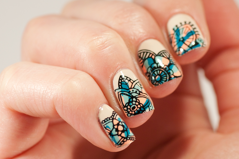 Colourful stamping nail art may contain traces of polish new at my company so have been having many oh i like your nails thank you do you do them yourself why yes i do and so on conversations prinsesfo Gallery