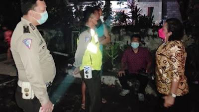 Polantas Polsek Dimembe Lakukan Olah TKP Lakalantas di Desa Warukapas