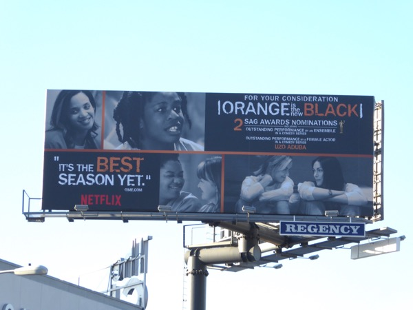 Orange is the New Black season 4 consideration billboard