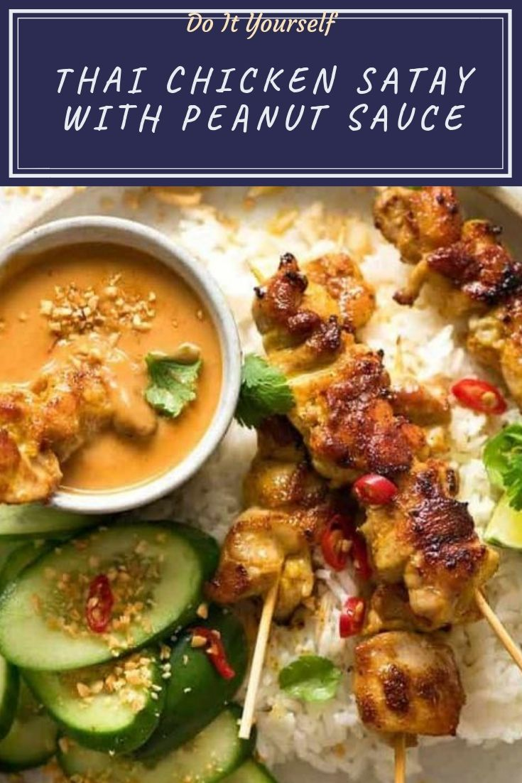Thai Chicken Satay Skewers are tasty enough to eat plain but we'd never skip Thai Peanut Sauce for dipping! The essential ingredient for a really great peanut sauce is natural peanut butter with no added sugar or oil.
