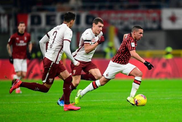 موعد مباراة ميلان وتورينو اليوم الثلاثاء في كأس إيطاليا والقناة الناقلة