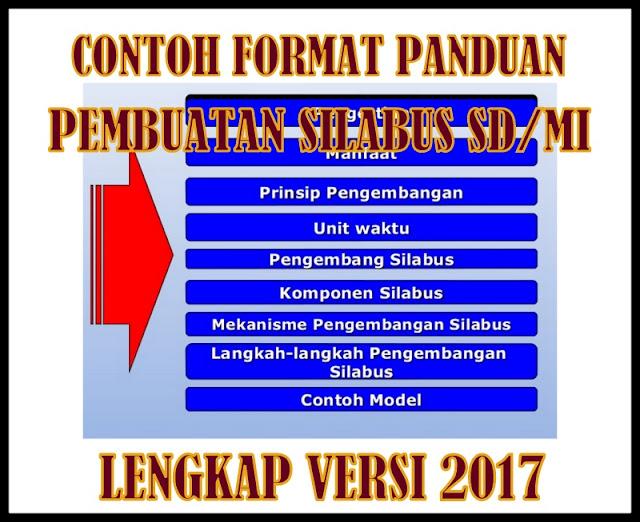 Contoh Format Panduan Pembuatan Silabus SD/MI Lengkap Versi 2017
