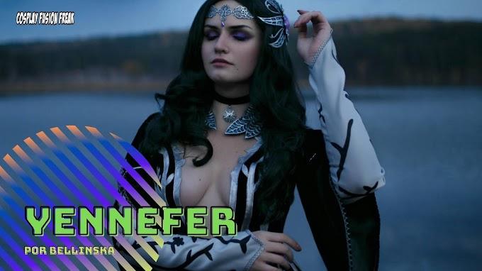 Bellinska con su cosplay de Yennefer