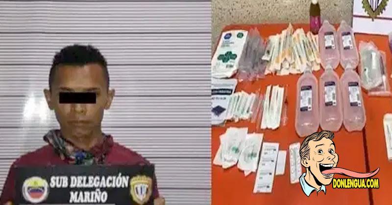 Enfermero capturado robándose medicinas del IVSS de Aragua