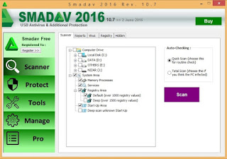 Smadav Pro Rev 10.7 Full Version Free Serial Number Key Update Juni 2016