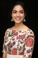 Ritu Varma smiling face Cream Anarkali dress at launch of OPPO New Selfie Camera F3 ~  Exclusive 045.JPG