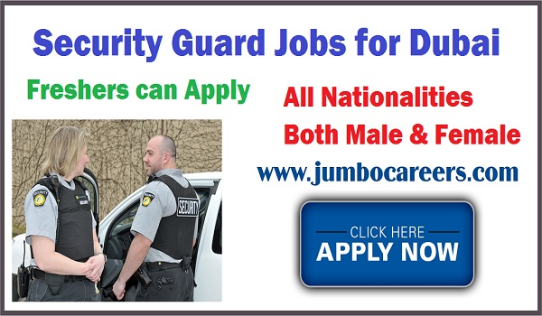 Male and Female security guard job vacancies latest, Freshers jobs for security Guard,