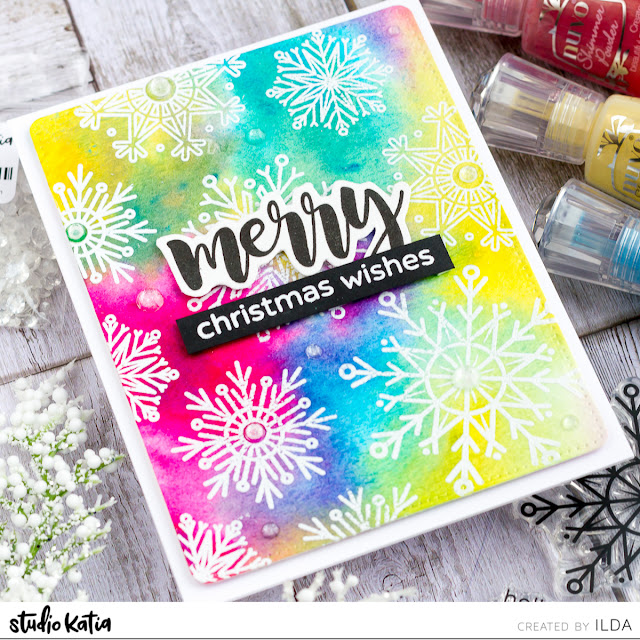 Colorful Snowflake Christmas Cards | Studio Katia by ilovedoingallthingscrafty.com