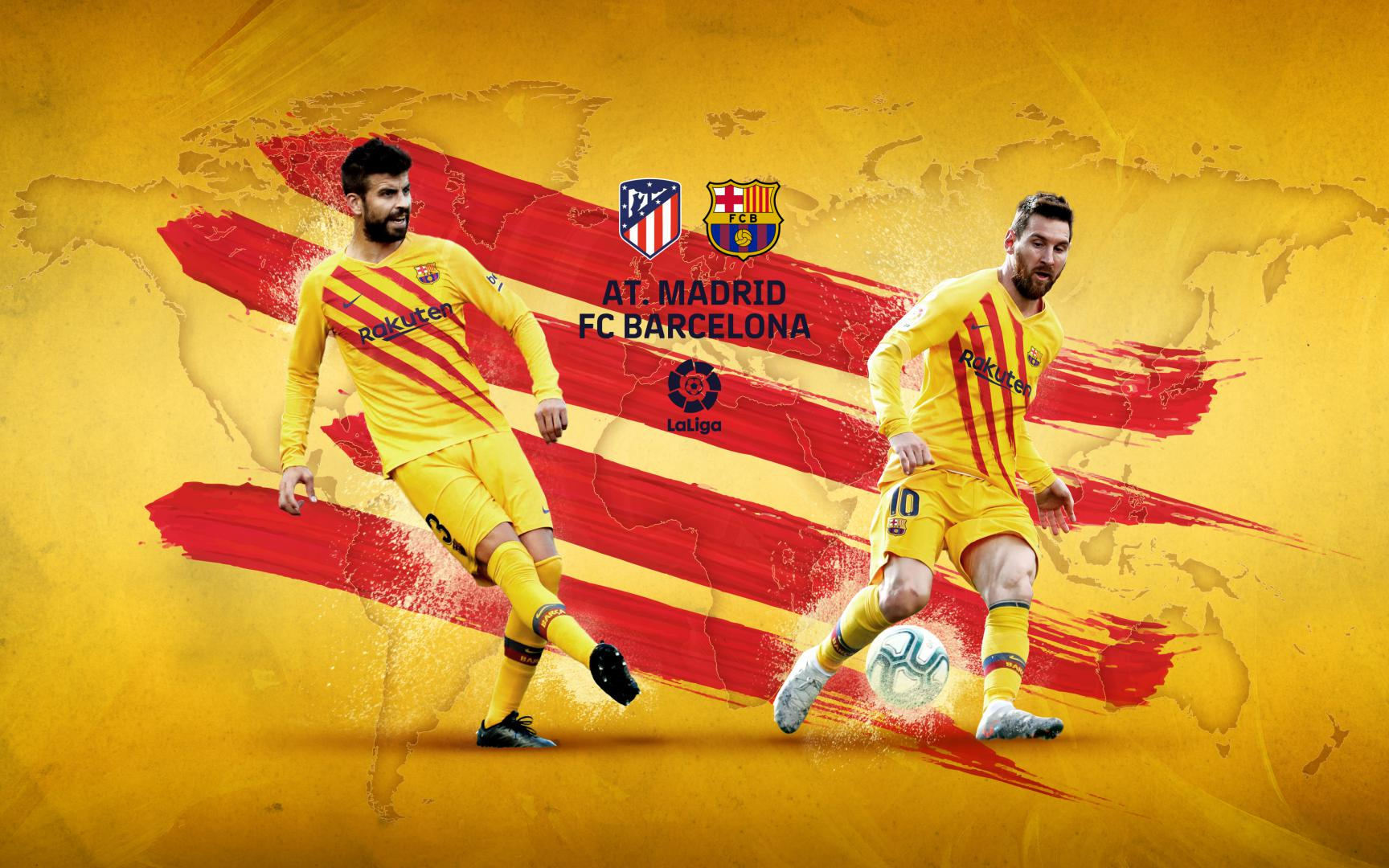 Barcelona vs Atletico Madrid laliga round 35