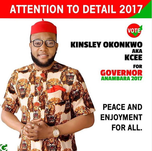 Kcee for Anambra governor