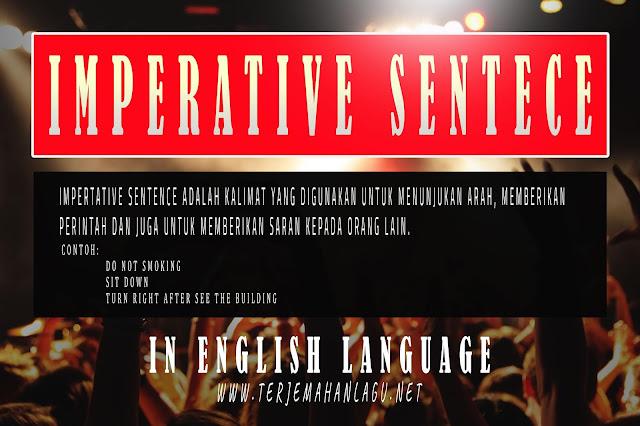 Apa Itu Imperative Sentence Di Dalam Bahasa Inggris