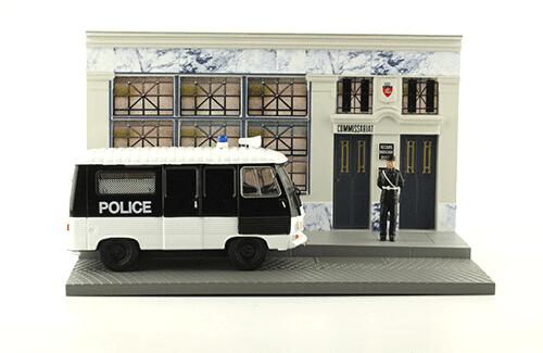 les plus beaux véhicules utilitaires, peugeot j7 1:43 l'agent de police